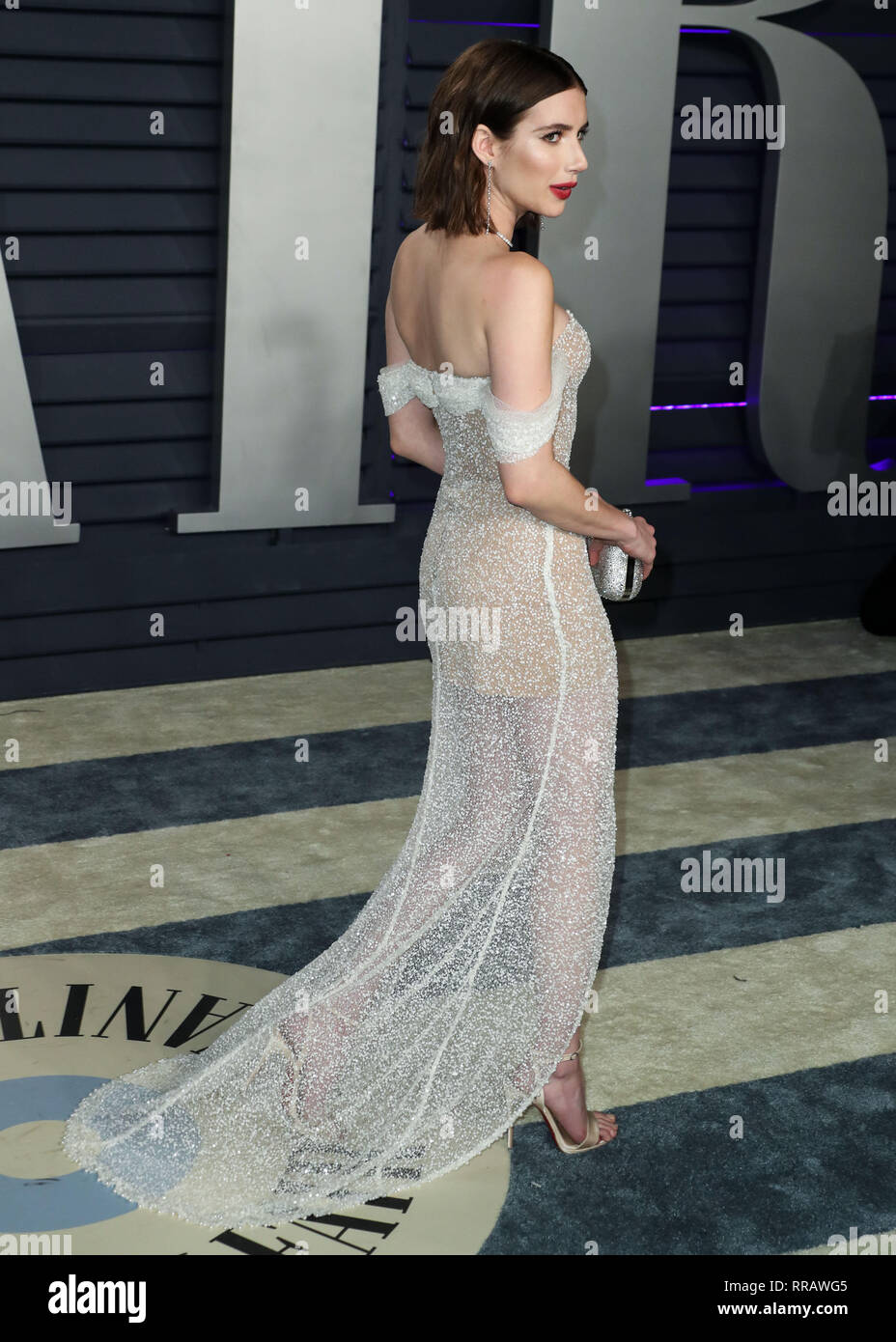 Beverly Hills Los Angeles Ca Usa February 24 Emma Roberts Arrives At The 2019 Vanity Fair Oscar Party Held At The Wallis Annenberg Center For The Performing Arts On February 24