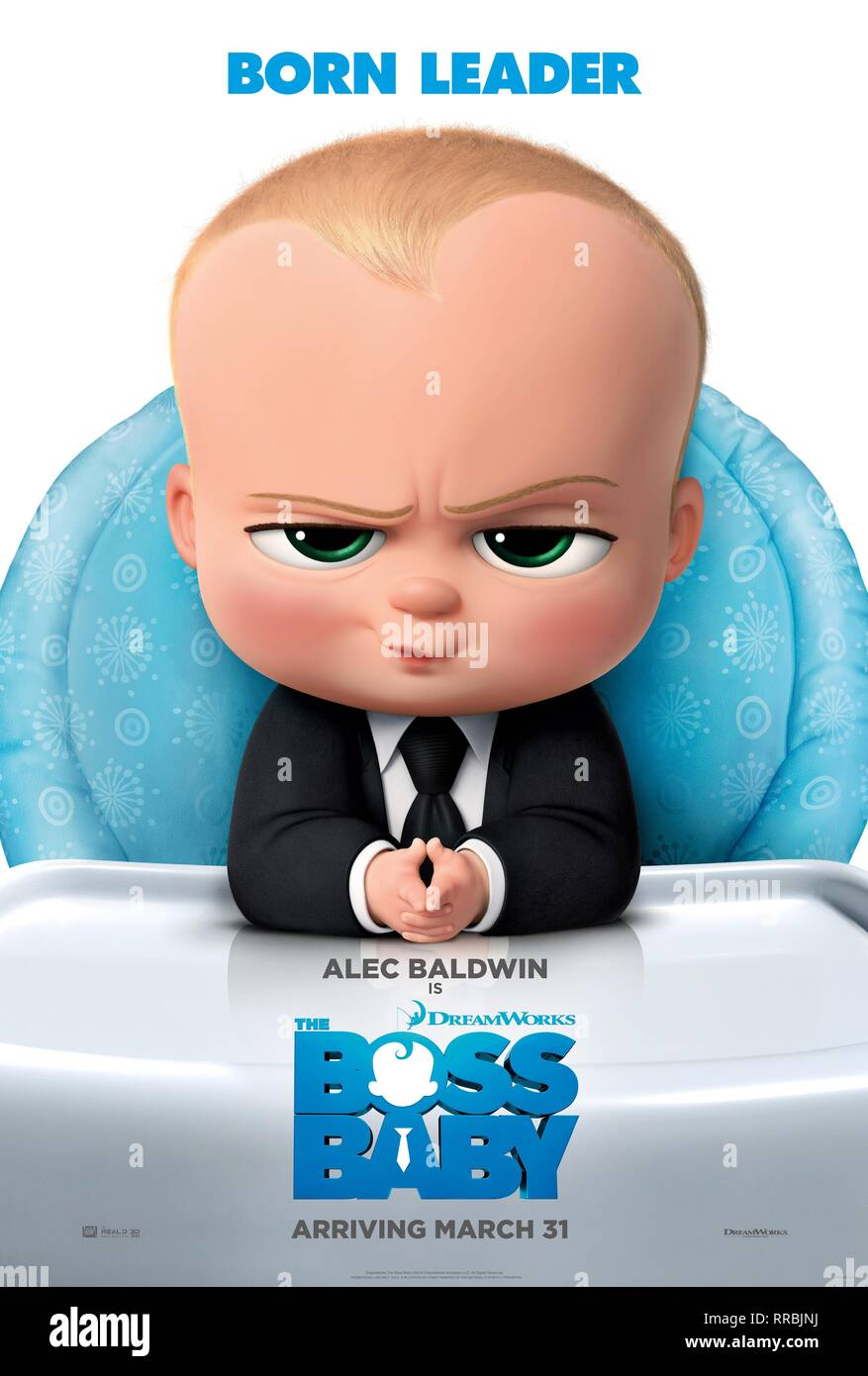 THE BOSS BABY, BABY POSTER, 2017 - Stock Image