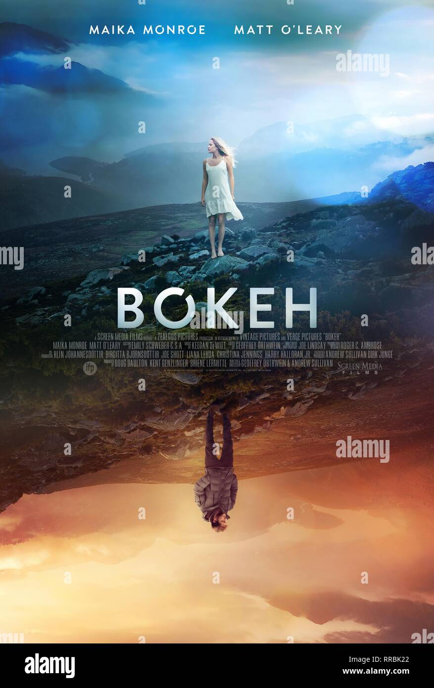 BOKEH, MOVIE POSTER, 2017 - Stock Image