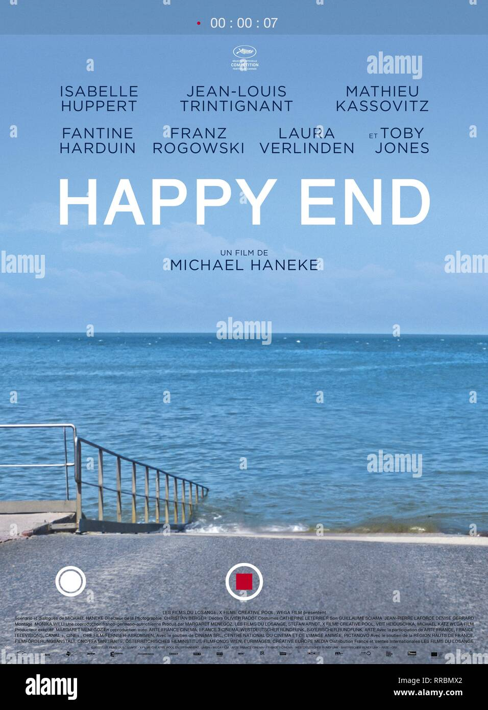 HAPPY END, MOVIE POSTER, 2017 - Stock Image