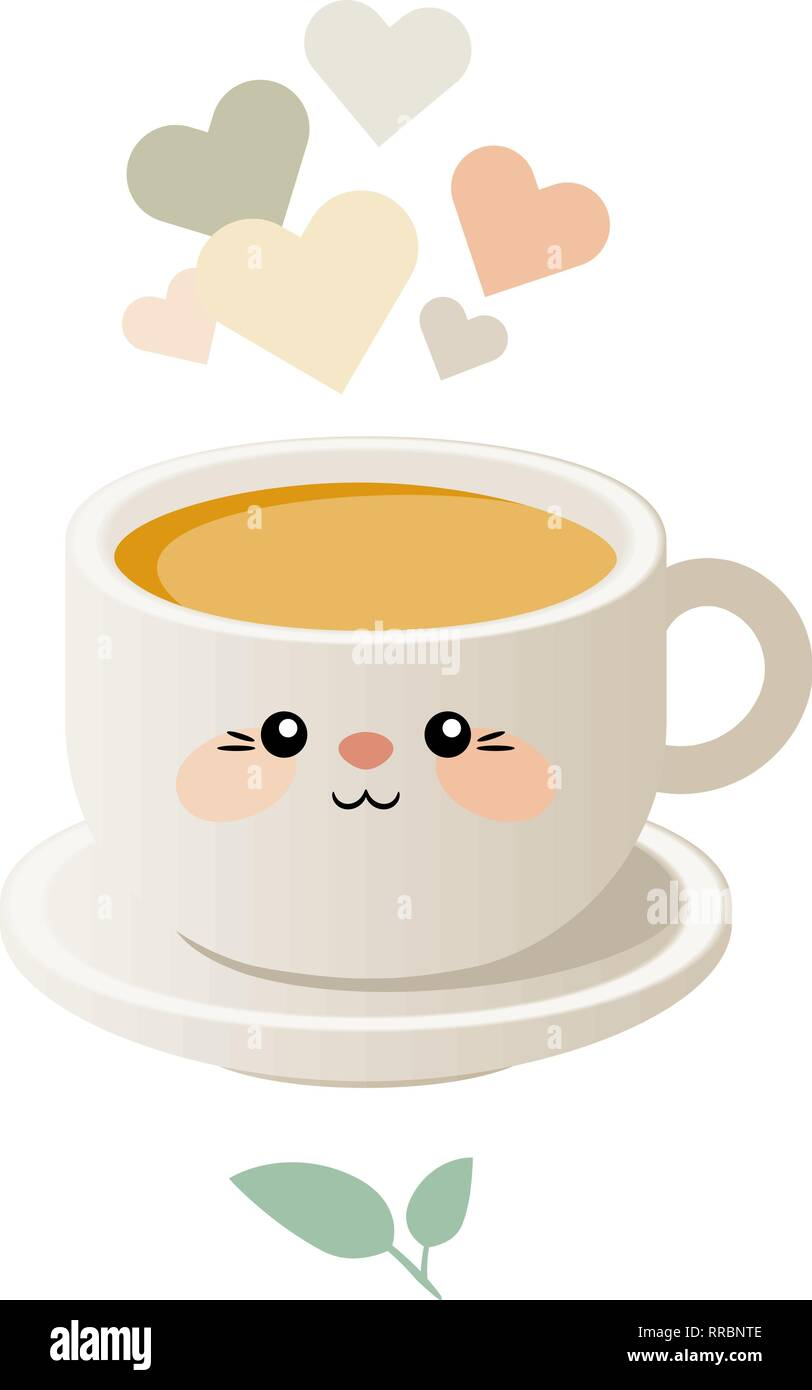 cute kawaii illustration with a cup of tea vector eps 10 stock vector image art alamy https www alamy com cute kawaii illustration with a cup of tea vector eps 10 image238130494 html