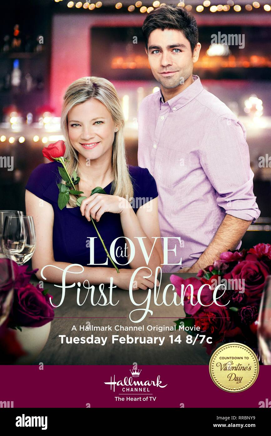 LOVE AT FIRST GLANCE, AMY SMART , ADRIAN GRENIER POSTER, 2017 - Stock Image