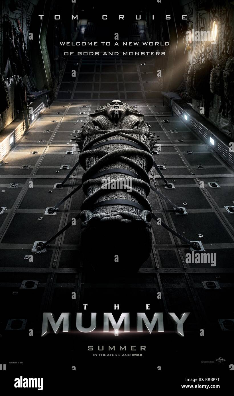 THE MUMMY, MOVIE POSTER, 2017 - Stock Image