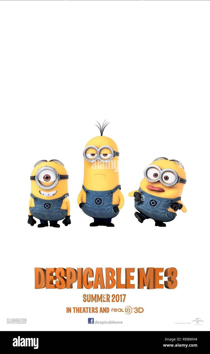 DESPICABLE ME 3, MOVIE POSTER, 2017 - Stock Image