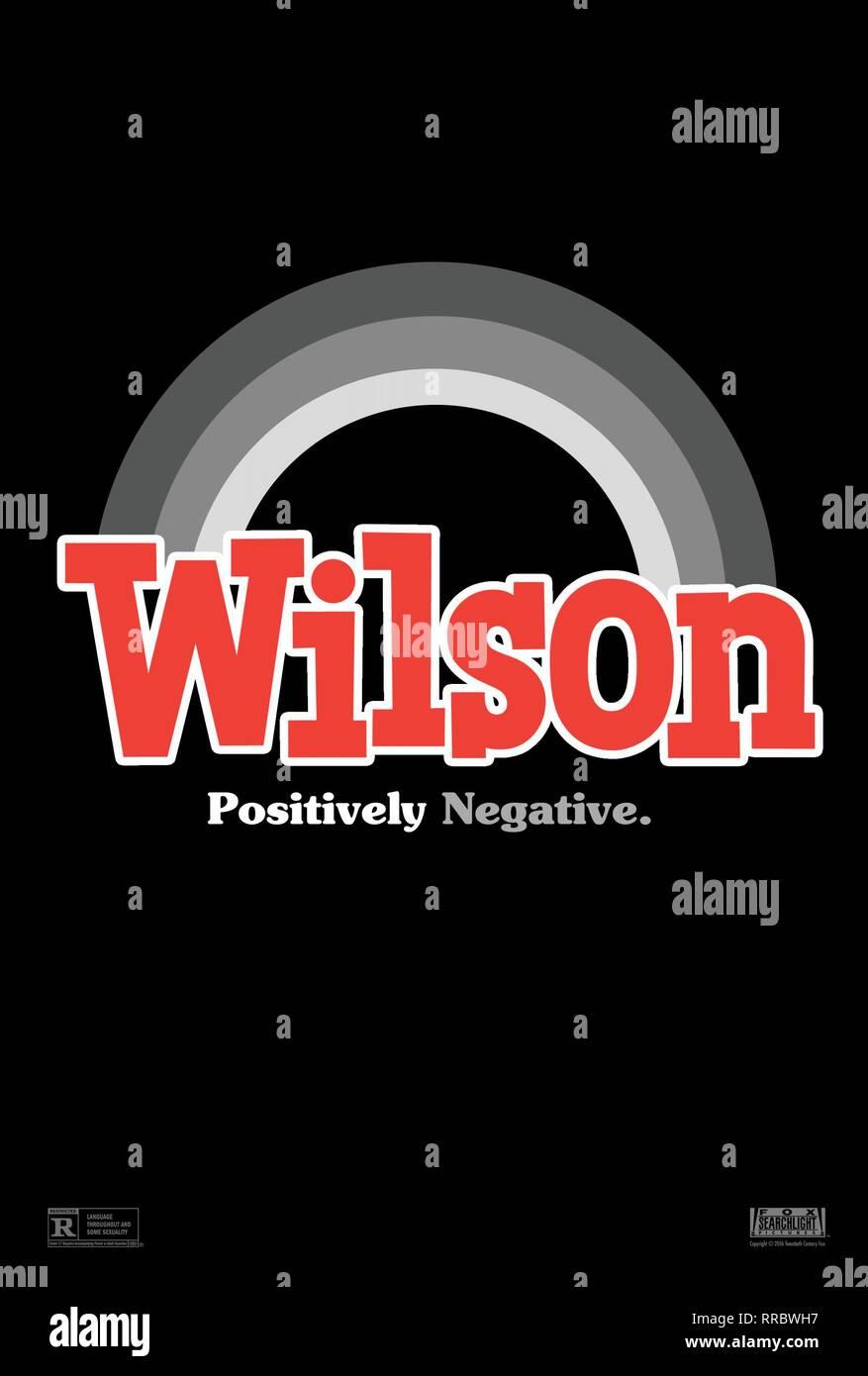 WILSON, MOVIE POSTER, 2017 - Stock Image