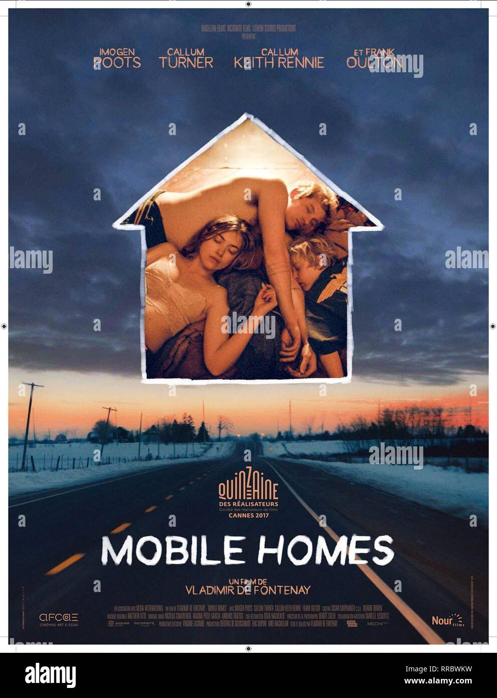 MOBILE HOMES, MOVIE POSTER, 2017 - Stock Image