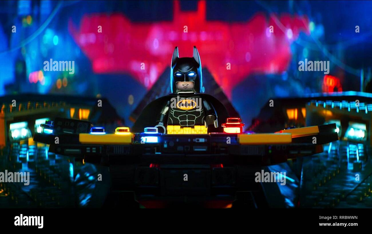 THE LEGO BATMAN MOVIE, BATMAN, 2017 - Stock Image
