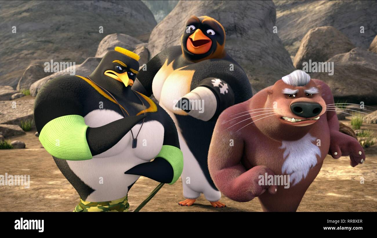 SURF'S UP 2: WAVEMANIA, J.C., HUNTER , MR. MCMAHON, 2017 - Stock Image