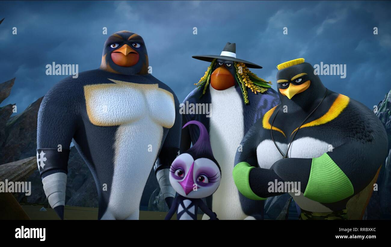 SURF'S UP 2: WAVEMANIA, HUNTER, PAIGE, UNDERTAKER , J.C., 2017 - Stock Image