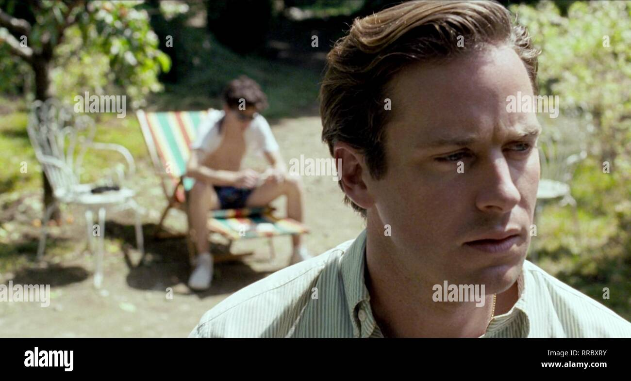 CALL ME BY YOUR NAME, ARMIE HAMMER, 2017 - Stock Image