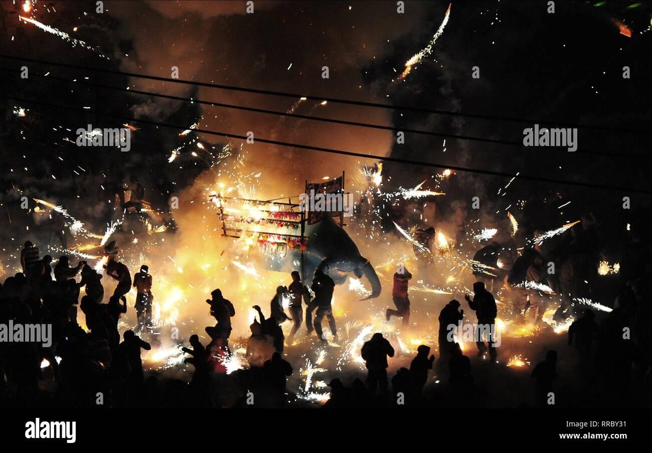 BRIMSTONE & GLORY, FIREWORK FESTIVAL, 2017 - Stock Image