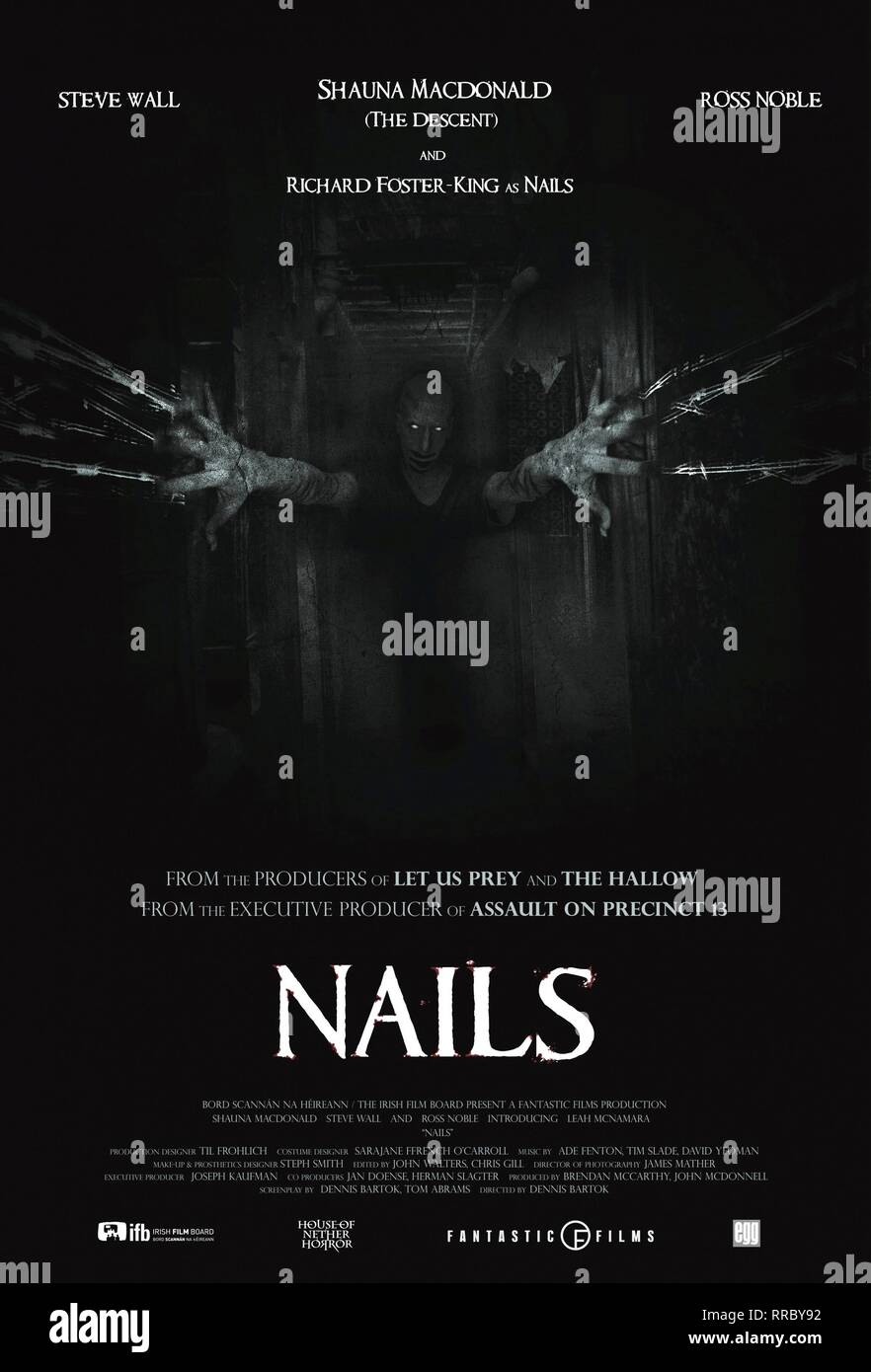 NAILS, MOVIE POSTER, 2017 - Stock Image