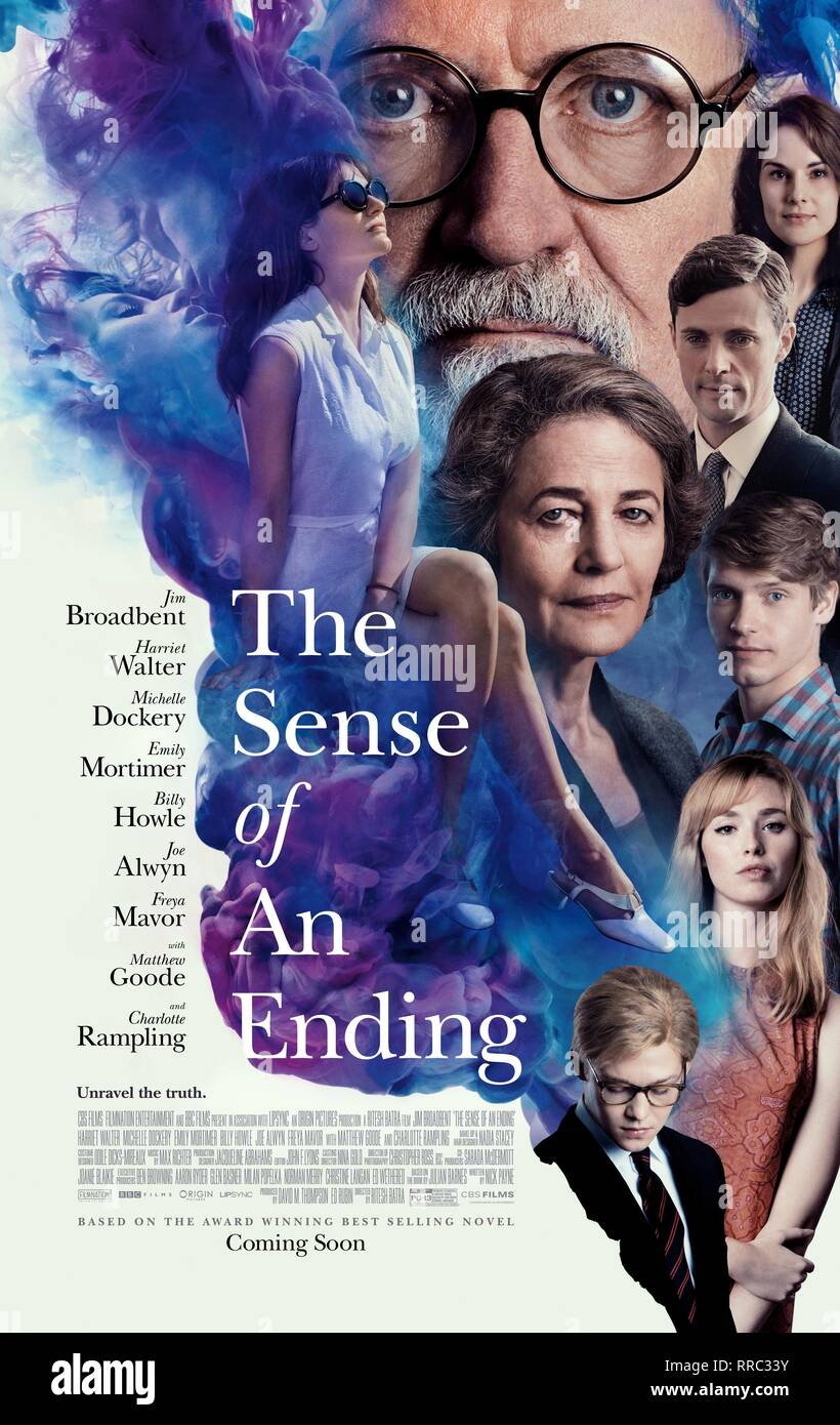 THE SENSE OF AN ENDING, MOVIE POSTER, 2017 - Stock Image