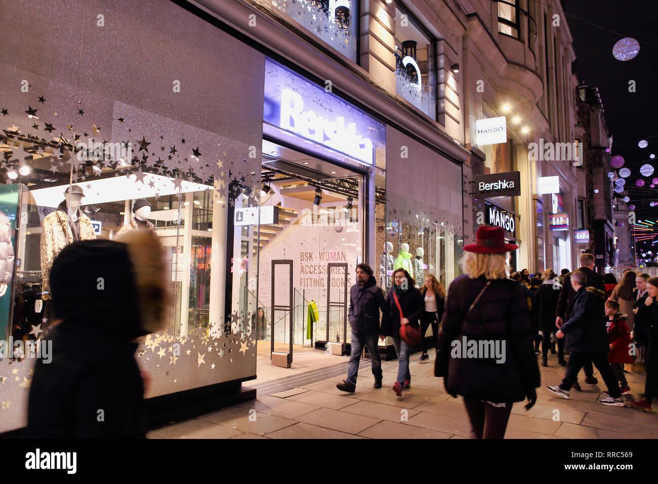40cc8665 Bershka store on Oxford Street, London, England, UK - Stock Image