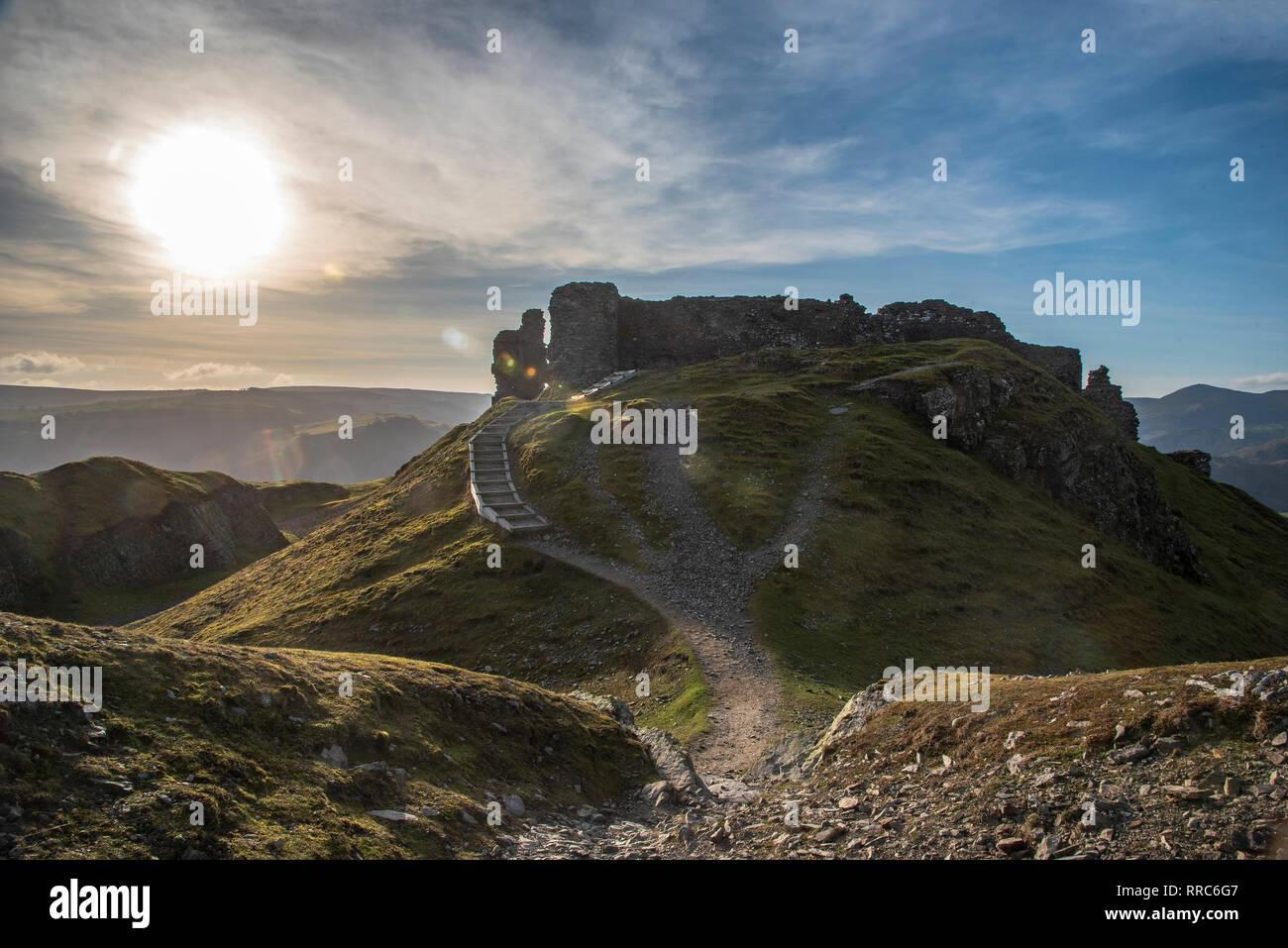 Dinas Bran castle. Llangollen. Castell Dinas Bran. - Stock Image