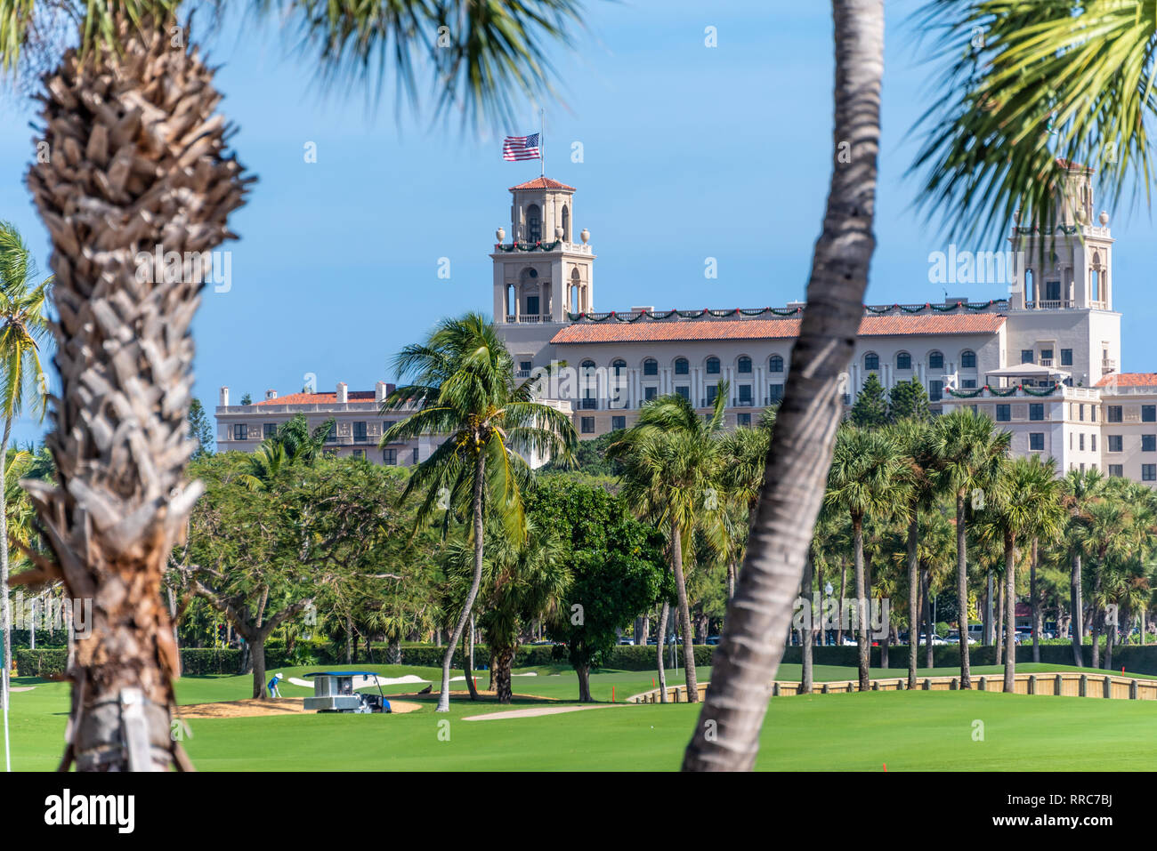 Ocean Course golf at the luxurious Breakers resort hotel in Palm Beach, Florida. (USA) - Stock Image