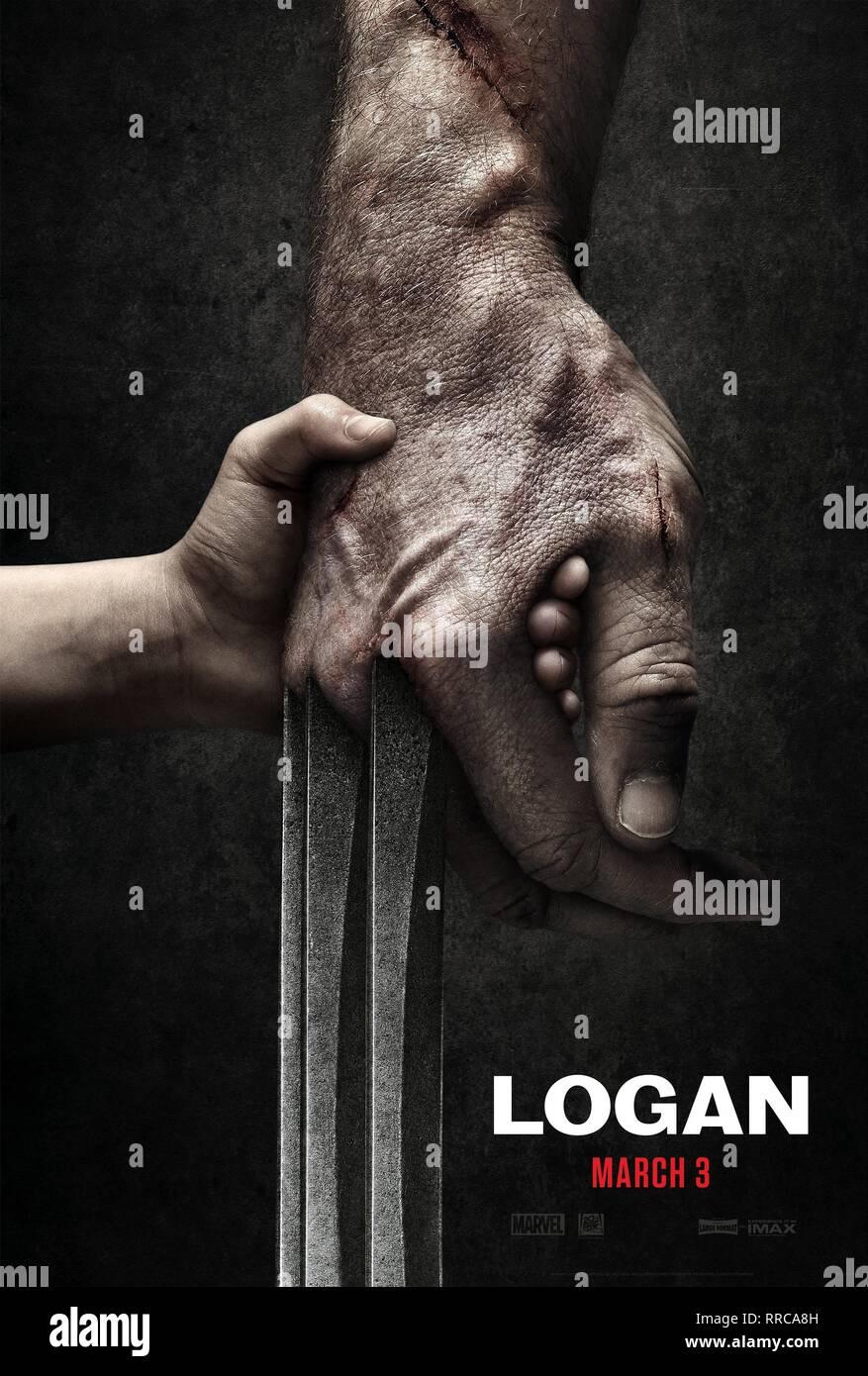 LOGAN, MOVIE POSTER, 2017 - Stock Image