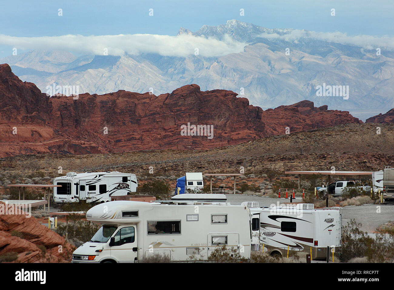 Rv Camping At The Valley Of Fire State Park Nevada Usa Stock Photo Alamy