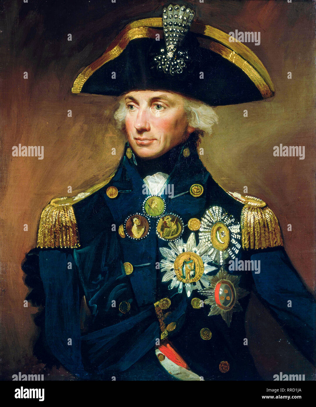 Vice Admiral Sir Horatio Nelson, Lord Nelson, portrait painting, 1799 - Stock Image