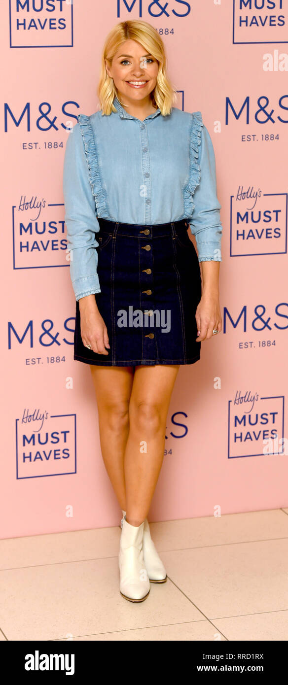 5115c21d9 Photo Must Be Credited ©Alpha Press 079965 25/02/2019 Holly Willoughby at  the Launch of Her Latest Must Haves The Denim Edit for M&S held at Marks &  Spencer ...