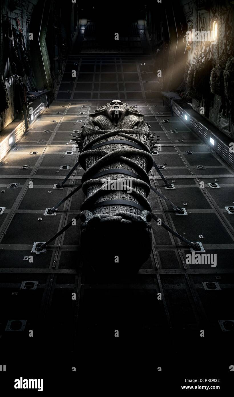 THE MUMMY, SARCOPHAGUS, 2017 - Stock Image