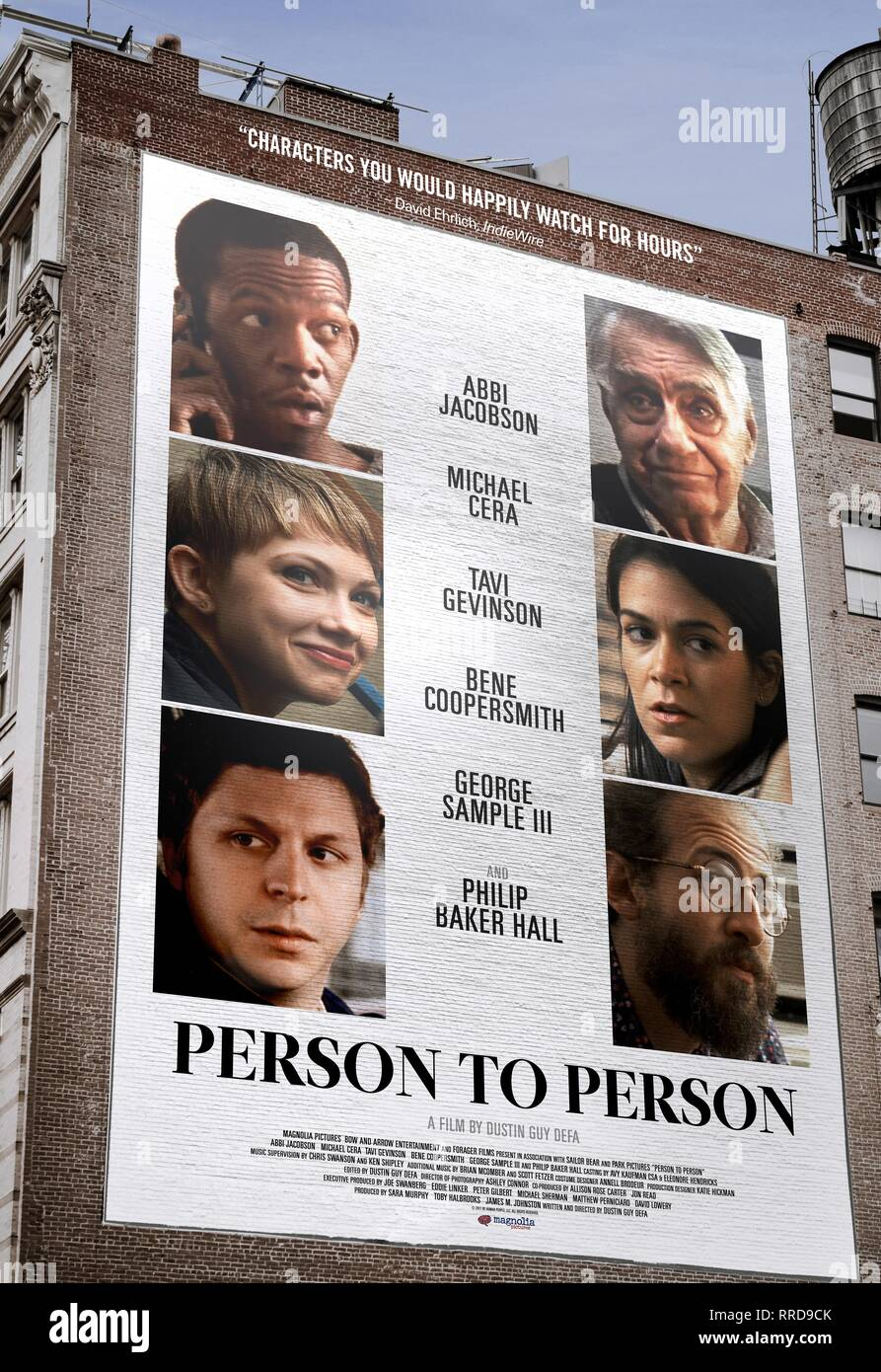 PERSON TO PERSON, MOVIE POSTER, 2017 - Stock Image