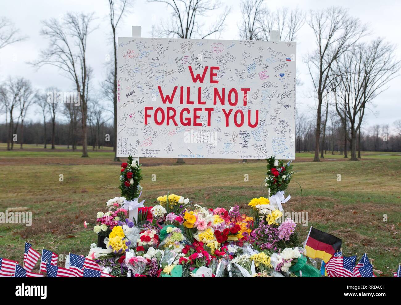 AFTERMATH, MEMORIAL, 2017 - Stock Image