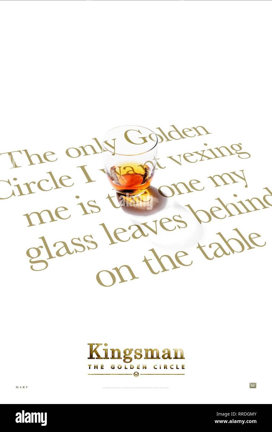 KINGSMAN: THE GOLDEN CIRCLE, MOVIE POSTER, 2017 - Stock Image