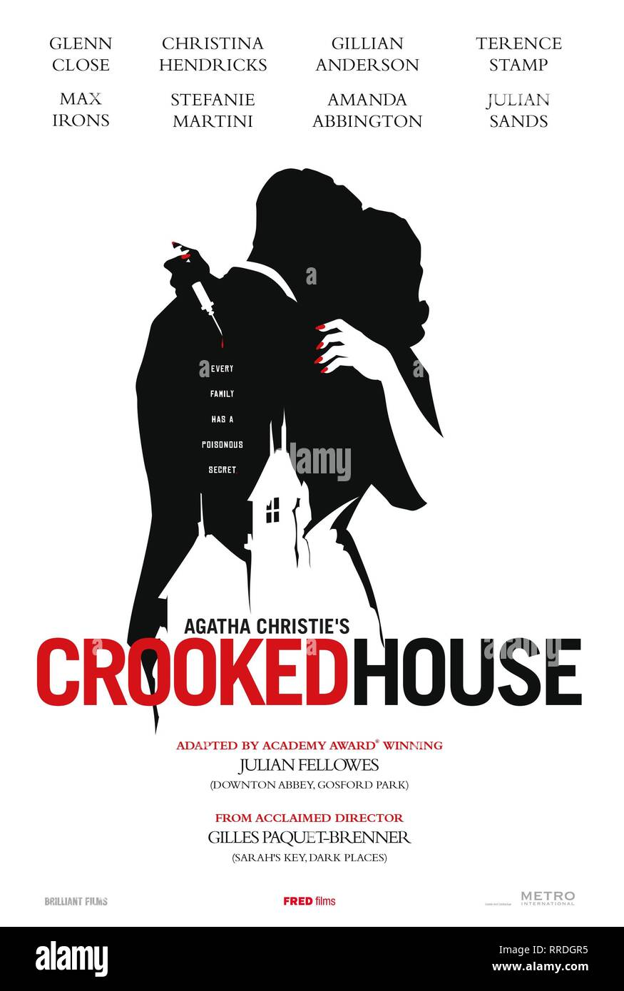 CROOKED HOUSE, MOVIE POSTER, 2017 - Stock Image