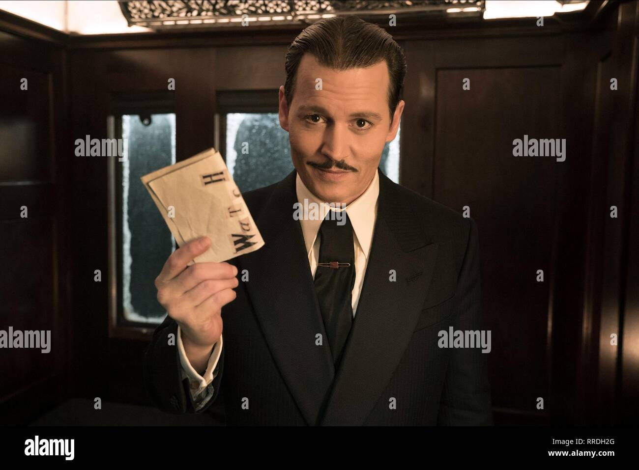 MURDER ON THE ORIENT EXPRESS, JOHNNY DEPP, 2017 - Stock Image
