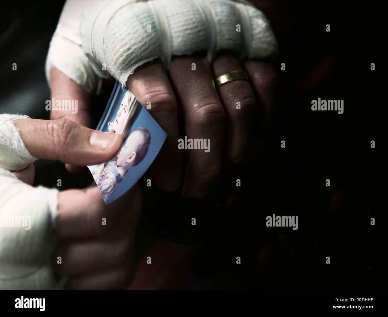 JOURNEYMAN, BANDAGED HANDS , PHOTOGRAPH, 2017 - Stock Image
