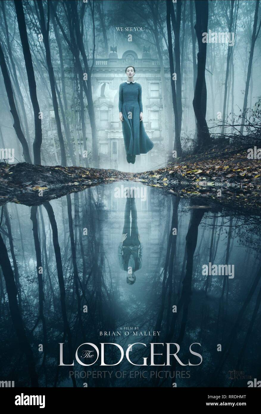 THE LODGERS, MOVIE POSTER, 2017 - Stock Image