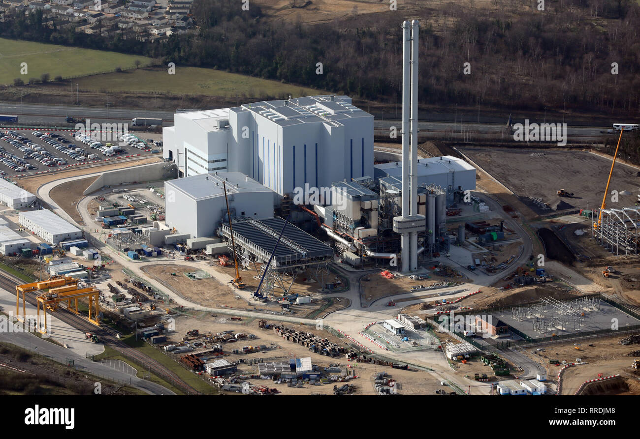 new up to date aerial images of the new Multifuel power stations at Ferrbyridge - Stock Image
