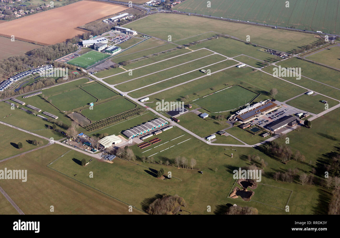 aerial view of the Lincolnshire Showground at Scampton near Lincoln - Stock Image