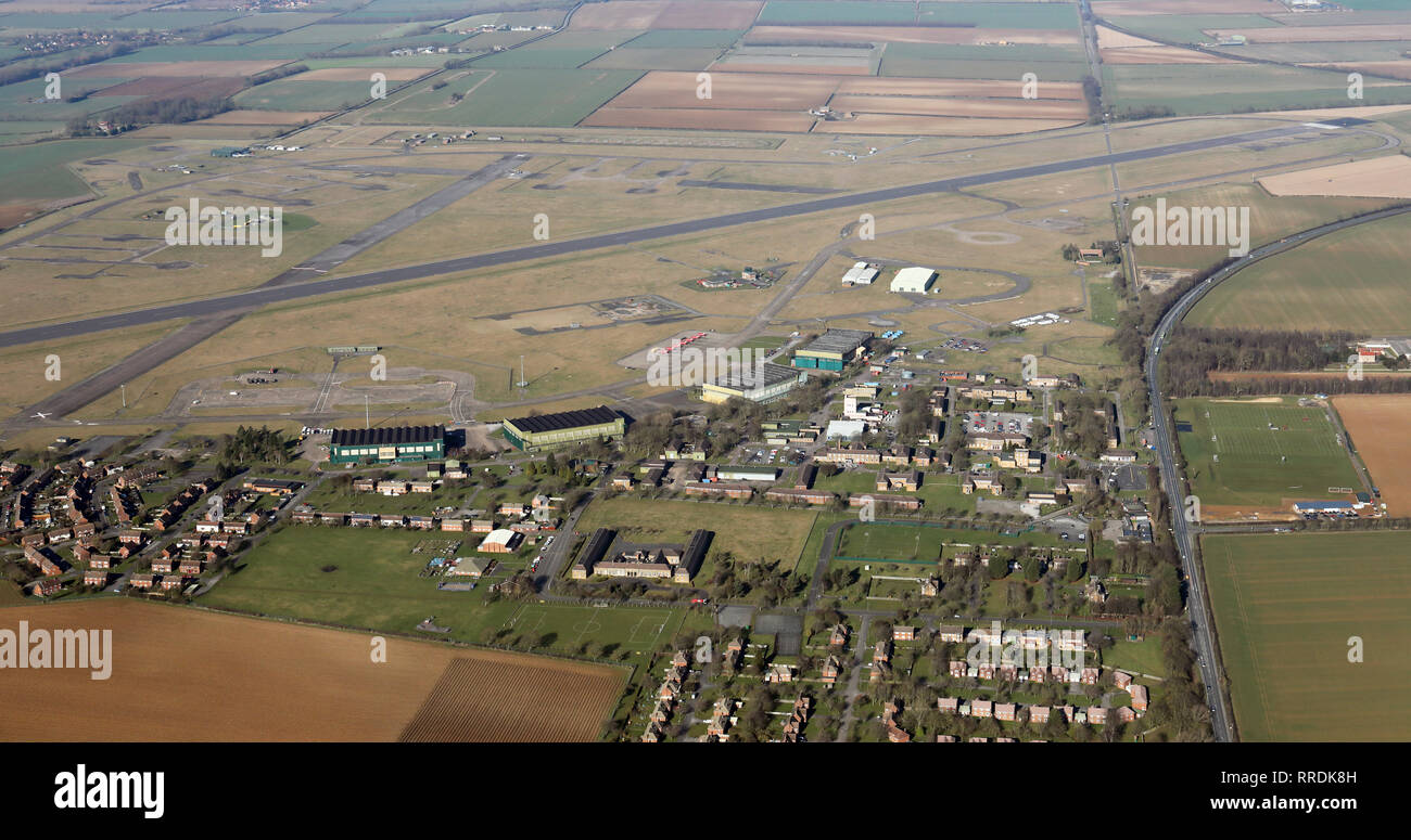 aerial view of RAF Scampton, Lincolnshire - Stock Image