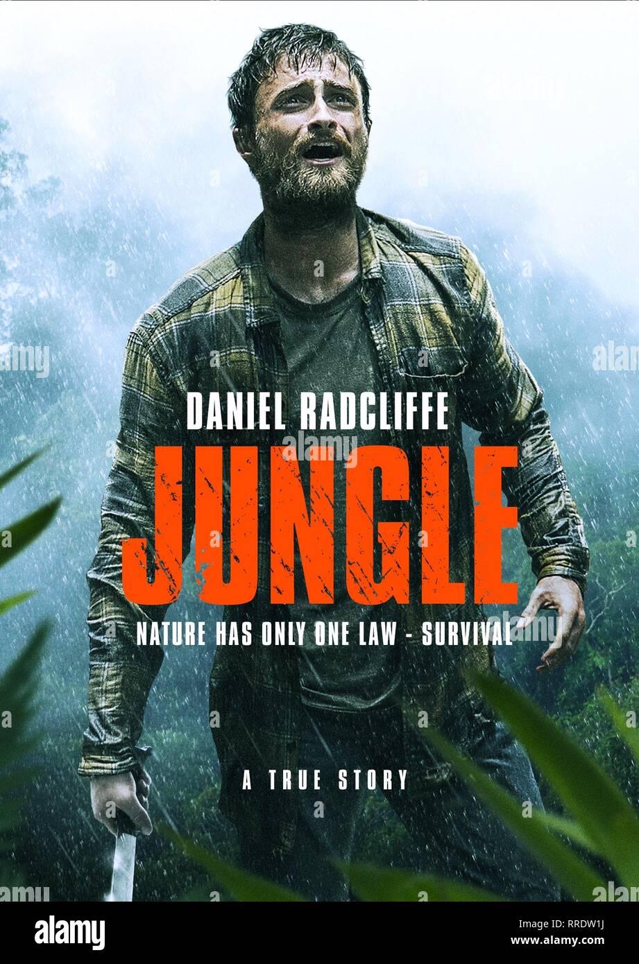 JUNGLE, DANIEL RADCLIFFE POSTER, 2017 - Stock Image