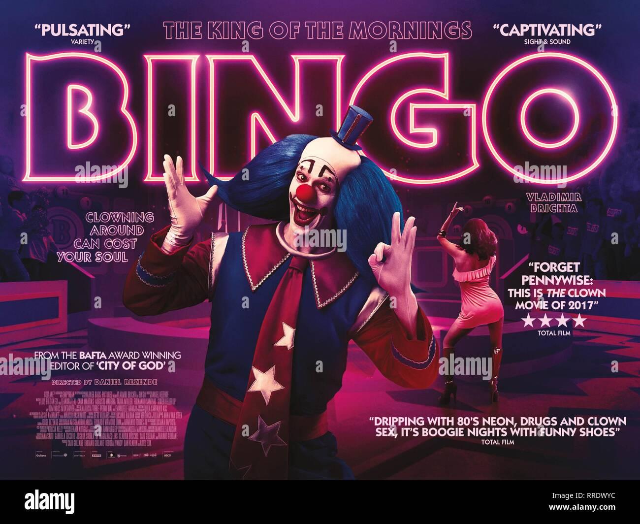 BINGO: THE KING OF THE MORNINGS, VLADIMIR BRICHTA POSTER, 2017 - Stock Image