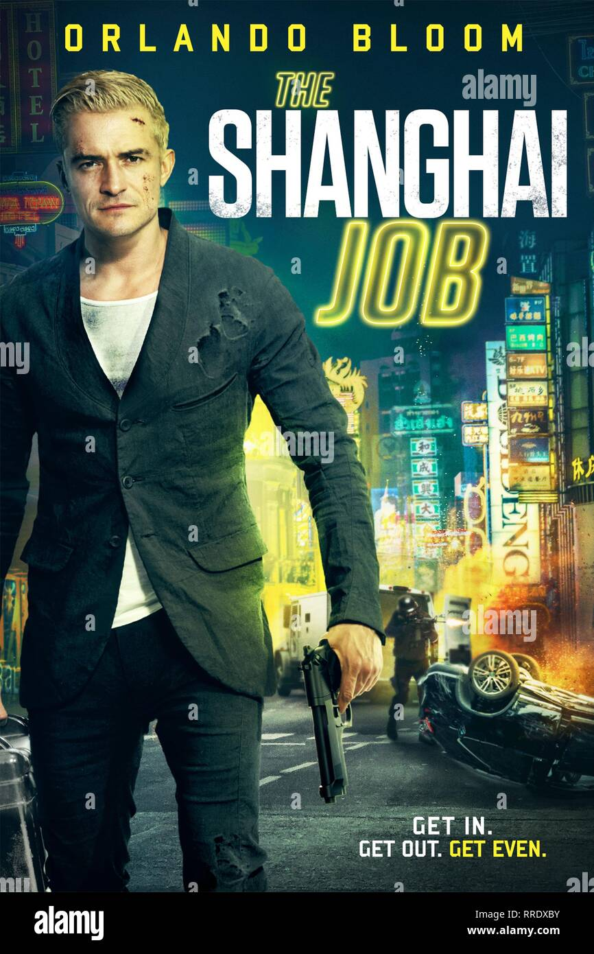 THE SHANGHAI JOB, ORLANDO BLOOM POSTER, 2017 - Stock Image