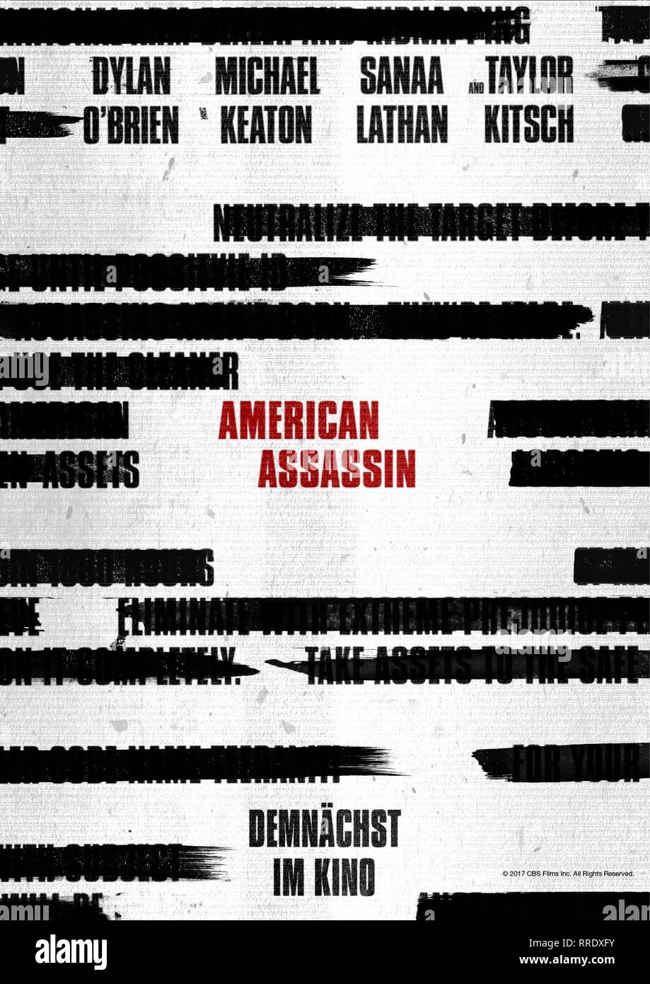 AMERICAN ASSASSIN, MOVIE POSTER, 2017 - Stock Image