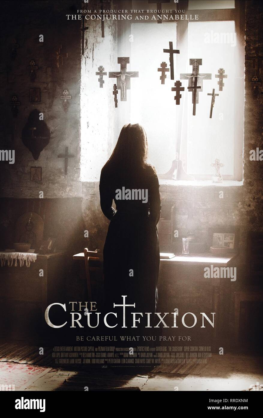 THE CRUCIFIXION, MOVIE POSTER, 2017 - Stock Image