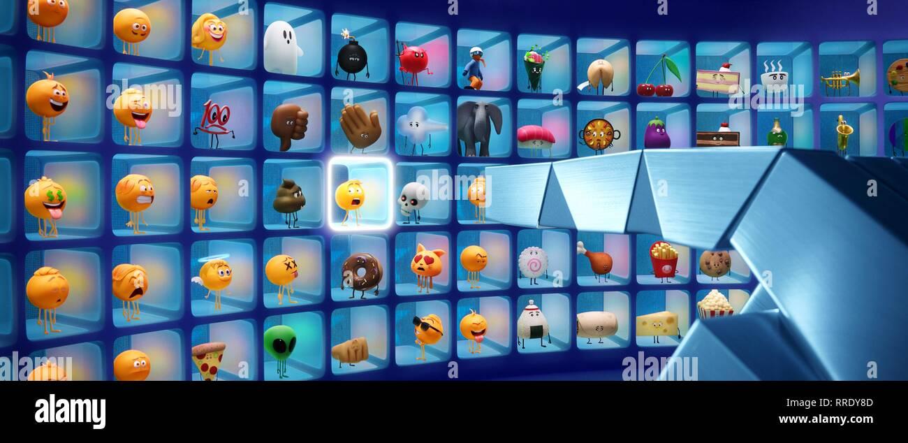 The Emoji Movie Gene Emojis 2017 Stock Photo Alamy