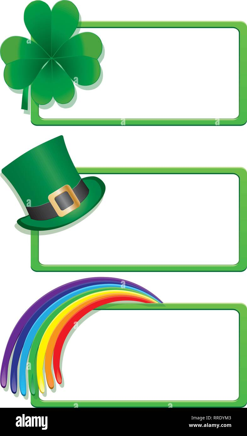 Set of St. Patrick`s day banners, part 1, vector illustration - Stock Image