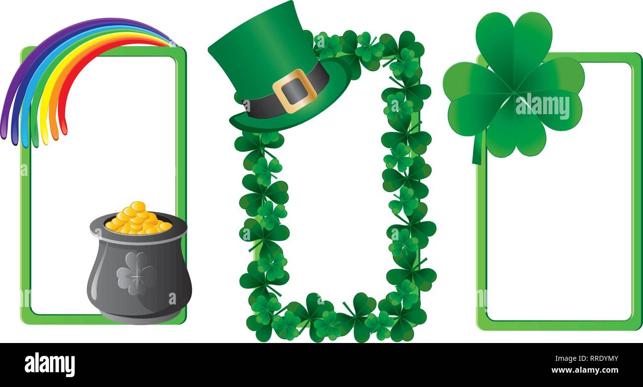 Set of St. Patrick`s day banners, part 3, vector illustration - Stock Image