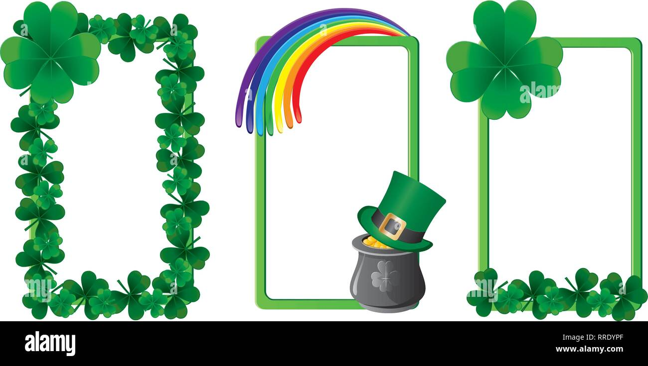Set of St. Patrick`s day banners, part 4, vector illustration - Stock Image