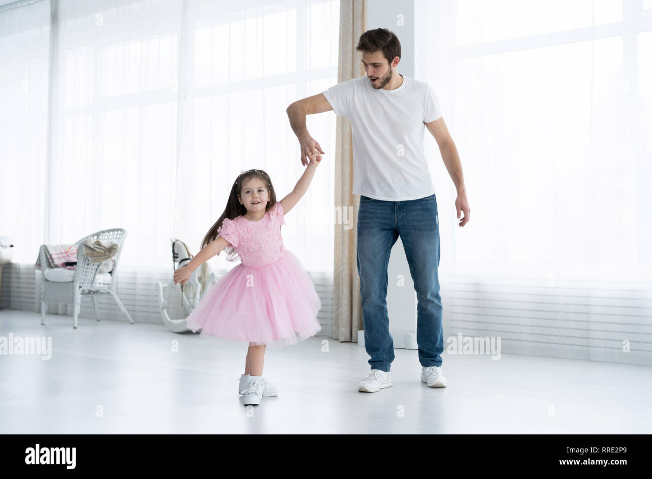 Shall simply Very young little girl loves daddy apologise, but