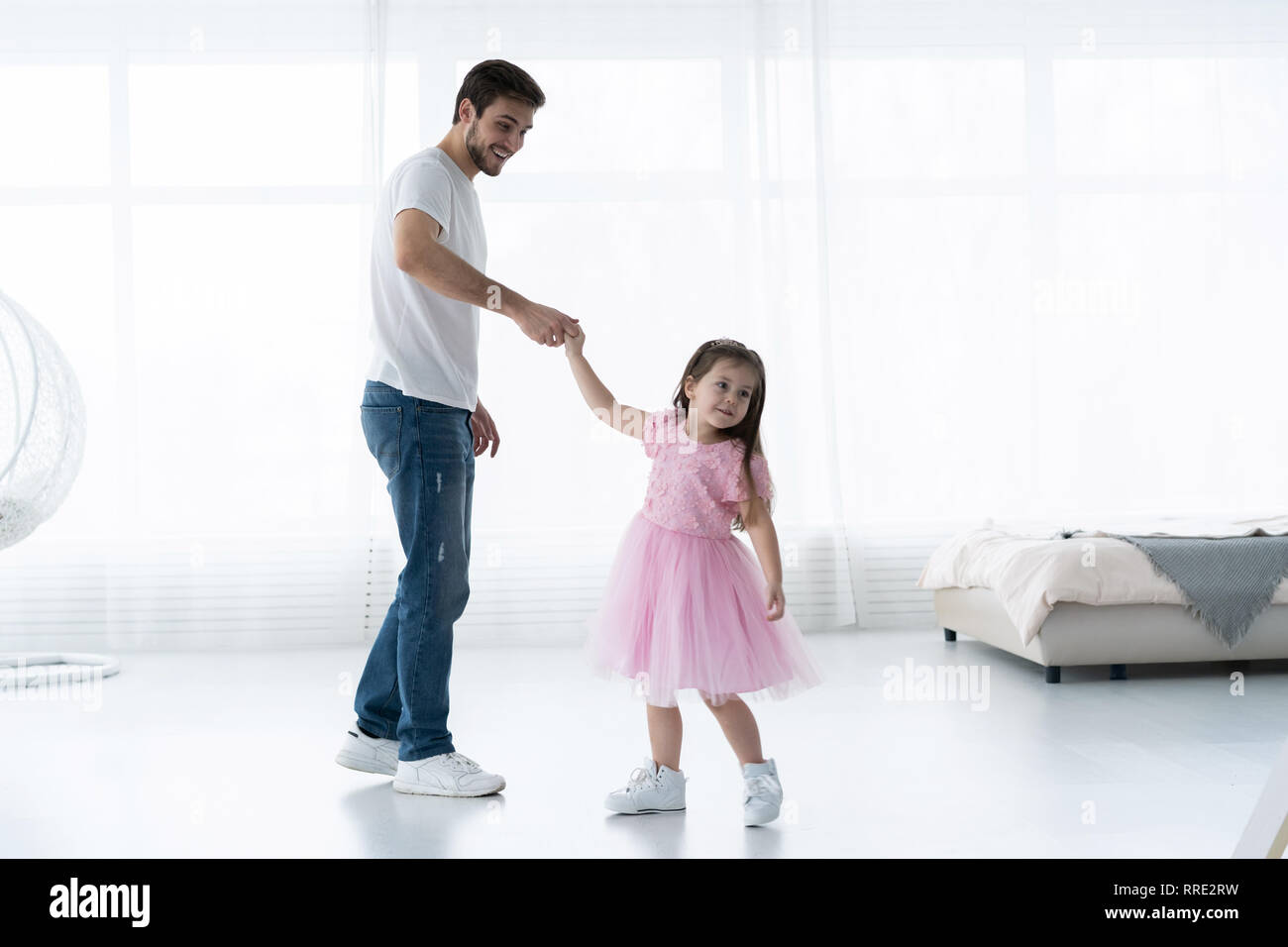 That can Very young little girl loves daddy