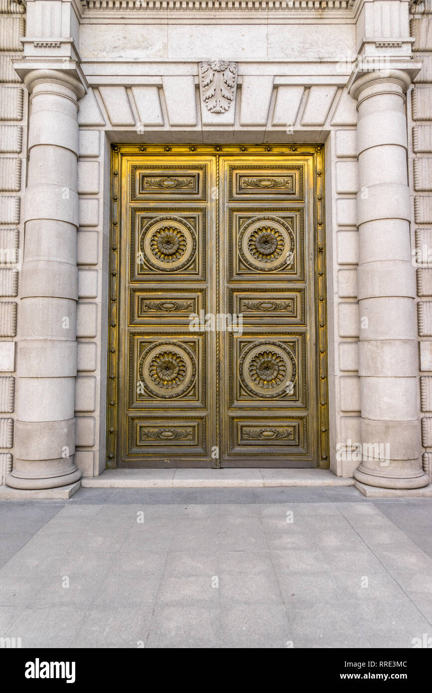 Banco Exterior: House Parliament In Madrid Spain Stock Photos & House
