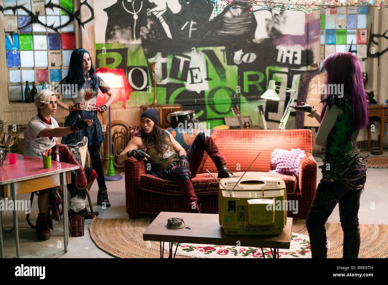 DESCENDANTS 2, CAMERON BOYCE, SOFIA CARSON, BOOBOO STEWART , DOVE CAMERON, 2017 Stock Photo