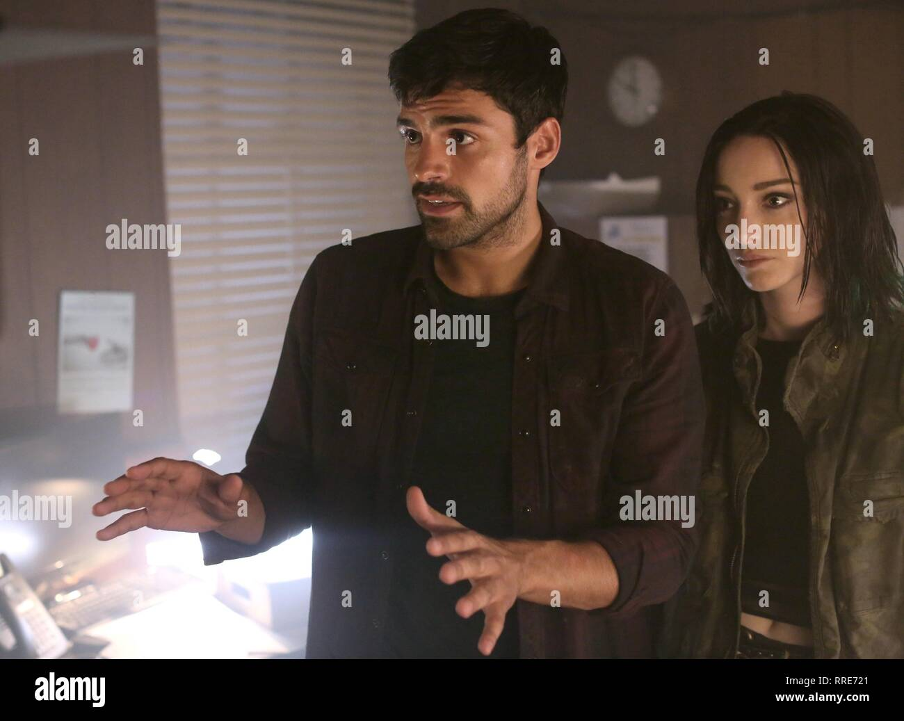 THE GIFTED, SEAN TEALE , EMMA DUMONT, 2017 - Stock Image