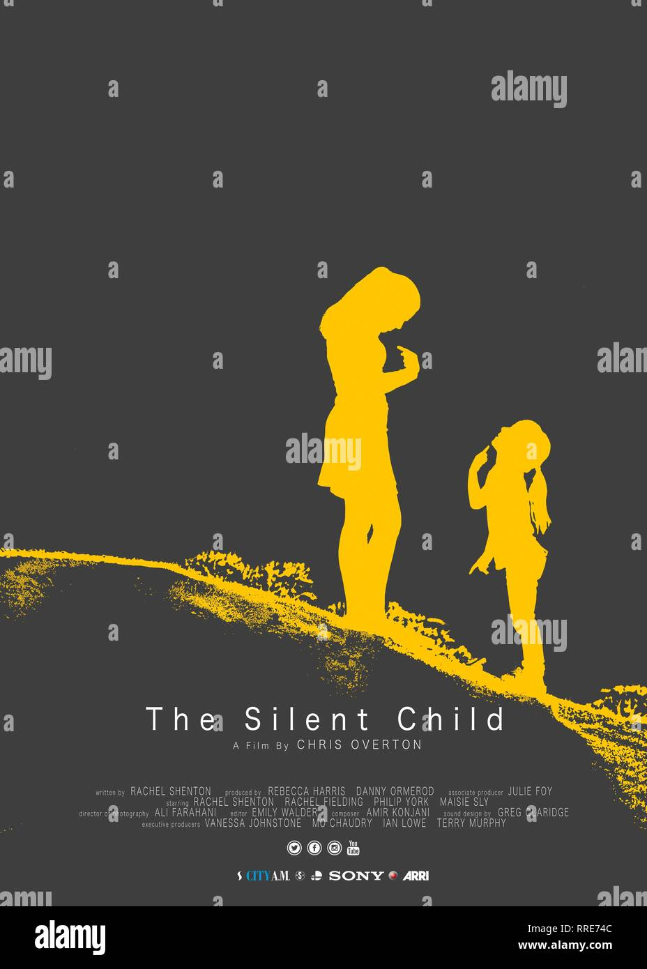 THE SILENT CHILD, MOVIE POSTER, 2017 - Stock Image